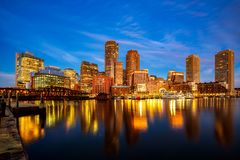 Free Boston Harbor With Cityscape And Skyline Stock Photography - 137281952