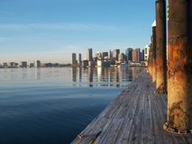 Boston Harbour. Boston skyline from across the harbour Stock Photography