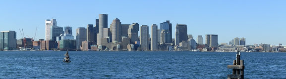 Boston Harbour. Image taken from the water Harbour front  of the downtown Boston city Royalty Free Stock Image
