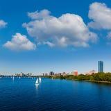 Boston Harvard Bridge in Charles river Royalty Free Stock Image