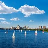 Boston Harvard Bridge in Charles river Royalty Free Stock Images