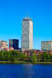 Boston from Harvard Bridge in Charles River Stock Photos