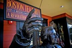 Boston herbacianego przyjęcia muzeum & statki Zdjęcie Royalty Free