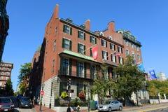 Boston Historic Buildings, Massachusetts, USA. Boston historic buildings on Beacon Street next to the State House, Boston, Massachusetts, USA Royalty Free Stock Images