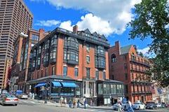Boston Historic Buildings, Massachusetts, USA. Boston historic buildings on Beacon Street and Park Street, Boston, Massachusetts, USA Stock Photography