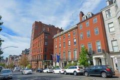Boston Historic Buildings, Massachusetts, USA. Boston historic buildings on Beacon Street between Charles Street and Walnut Street, Boston, Massachusetts, USA Stock Image