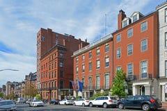 Boston Historic Buildings, Massachusetts, USA. Boston historic buildings on Beacon Street between Charles Street and Walnut Street, Boston, Massachusetts, USA Royalty Free Stock Photography