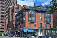 Boston Historic Buildings, Massachusetts, USA. Boston historic buildings on Beacon Street and Park Street, Boston, Massachusetts, USA Stock Image