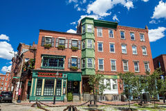 Boston historic North End Royalty Free Stock Images
