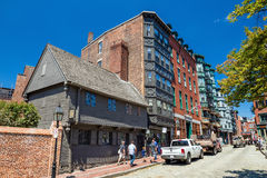 Boston historic North End Royalty Free Stock Photos