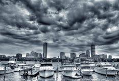 boston horisont royaltyfri fotografi