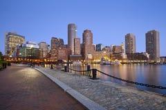 Boston horisont. Fotografering för Bildbyråer