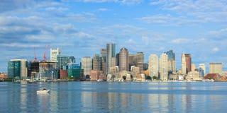 Boston horisont från östliga Boston, Massachusetts - USA Royaltyfri Foto
