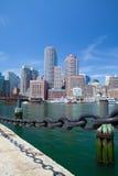 Boston horisont och nordlig avenybro Royaltyfri Foto
