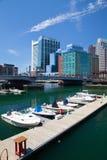 Boston horisont och nordlig avenybro Royaltyfri Fotografi