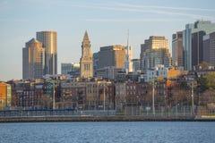 Boston horisont och strand, Massachusetts, USA Royaltyfri Fotografi