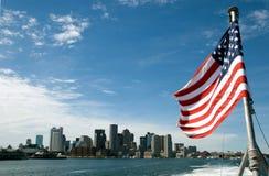 boston horisont USA Royaltyfri Bild