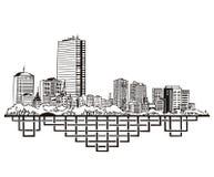Boston, horizonte del mA Fotos de archivo
