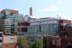 Boston Hospital Area Along Brookline Ave. Including Beth Israel Deaconess Medical Center and Dana-Farber Cancer Institute. Boston, MA/U.S.A.  August 10, 2015 Royalty Free Stock Photos