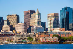 Boston i Massachusetts i stadens centrum buidings Royaltyfri Foto