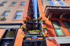 Boston i stadens centrum gator på en ljus solig dag Royaltyfri Foto