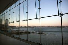 boston ica panoramasolnedgång Royaltyfri Foto