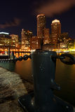 Boston iluminó en la noche de Imagen de archivo libre de regalías