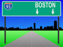 Boston with interstate Royalty Free Stock Photography
