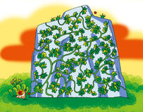 Boston ivy maze royalty free illustration