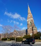 United Parish of Brookline. Boston, JAN 25: United Parish of Brookline on JAN 25, 2012 at Boston, Massachusetts, United States Stock Photo