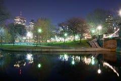 Boston Jawnego ogródu łabędź staw Fotografia Royalty Free