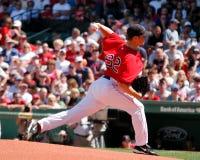 boston jonlester Red Sox Royaltyfria Foton