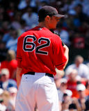 boston jonlester Red Sox Arkivfoton