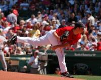boston jonlester Red Sox Arkivbilder
