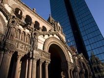 Boston-Kirche und Wolkenkratzer Lizenzfreie Stockfotografie