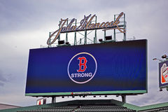 Boston-klare Botschaft in Fenway Park, Boston, Stockfotos