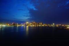 Boston la nuit Photographie stock