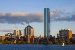Boston langs Charles River Royalty-vrije Stock Fotografie