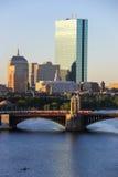 Boston, le Massachusetts - août 2013 : Paysage urbain Photographie stock
