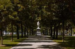 Boston, le Massachusetts, USA, le 27 juillet 2009 : La statue de Hamilton a été érigée en 1865 et était la première à apparaître  Photographie stock libre de droits