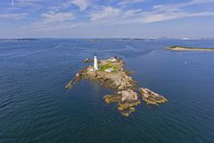 Boston Lighthouse in Boston Harbor, Massachusetts, USA royalty free stock photos