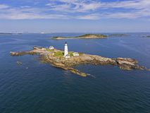 Boston Lighthouse in Boston Harbor, Massachusetts, USA royalty free stock images