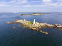 Boston Lighthouse in Boston Harbor, Massachusetts, USA stock photo
