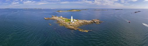 Boston Lighthouse in Boston Harbor, Massachusetts, USA stock photography