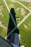 Boston Lighthouse shadow as seen from the top Stock Photos
