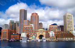 Boston linia horyzontu Obrazy Royalty Free