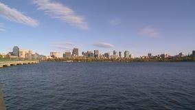 Boston linia horyzontu w Massachusetts - usa zbiory wideo