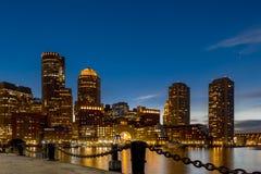 Boston ljus - blått Arkivfoton