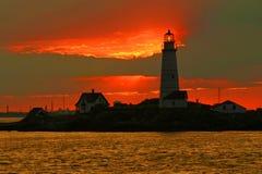 Boston ljus, Boston hamn arkivbilder
