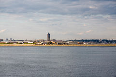 Boston Logan Airport Across Harbor Photo stock